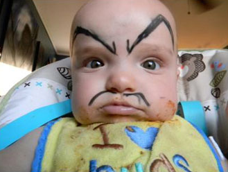 Funny baby make up